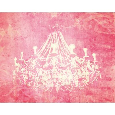 'Pink Chandelier' Graphic Art Print on Canvas