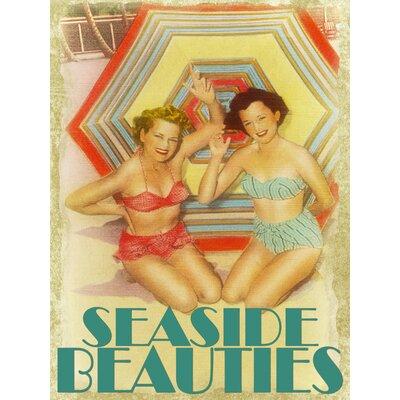 'Seaside Beauties' Graphic Art Print on Canvas