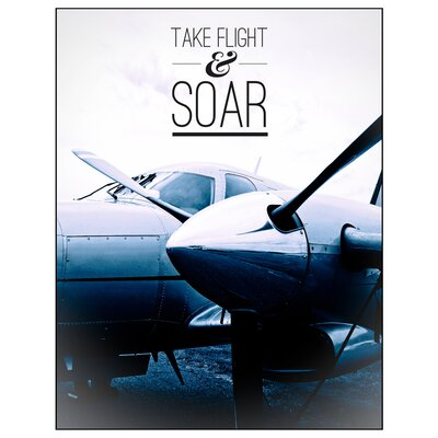 'Take Flight and Soar' Graphic Art Print on Canvas