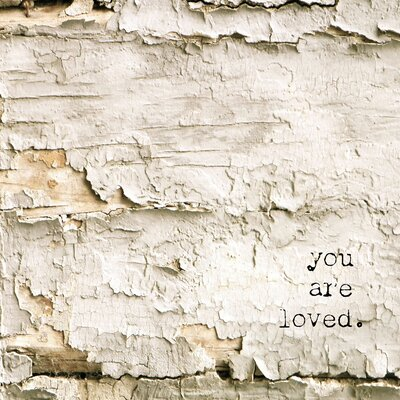 'Simple Words You Are Loved' Graphic Art Print on Canvas