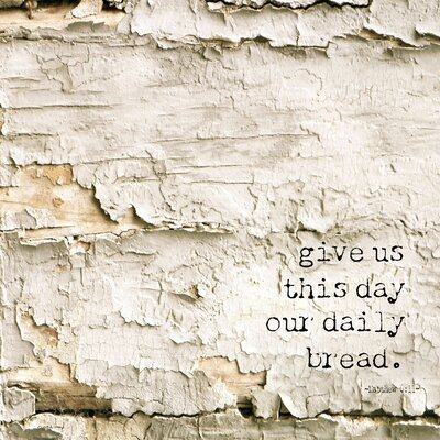 'Simple Words Religious Give Us This Day' Graphic Art Print on Canvas