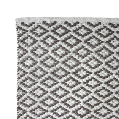 Hand Woven Charcoal Area Rug Rug Size: 3 x 5