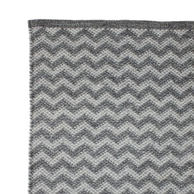 Hand Woven Gray Area Rug Rug Size: 2 x 3