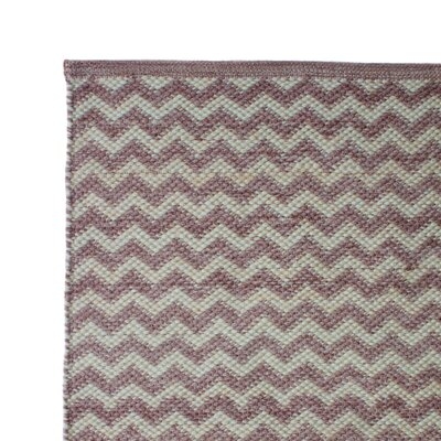 Hand Woven Pale Lilac Area Rug Rug Size: 5 x 8