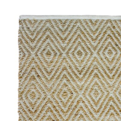 Hand-Woven Natural Area Rug Rug Size: 5 x 8