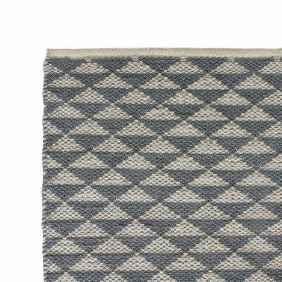 Hand-Woven Gray Area Rug Rug Size: 2 x 3