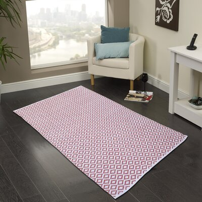 Hand Woven Coral Area Rug Rug Size: 3 x 5