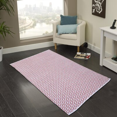 Hand Woven Coral Area Rug Rug Size: 5 x 8