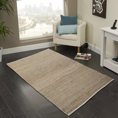 Hand-Woven Natural Area Rug Rug Size: 2 x 3