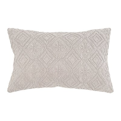 Ines Stonedwashed Lumbar Pillow Color: Pearl Gray