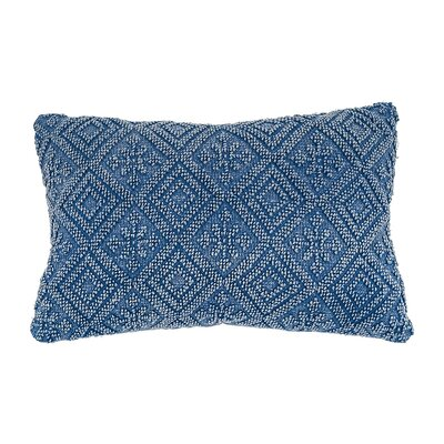 Ines Stonedwashed Lumbar Pillow Color: Ink