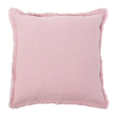 Feather Gauze Cotton Throw Pillow Color: Rosewood
