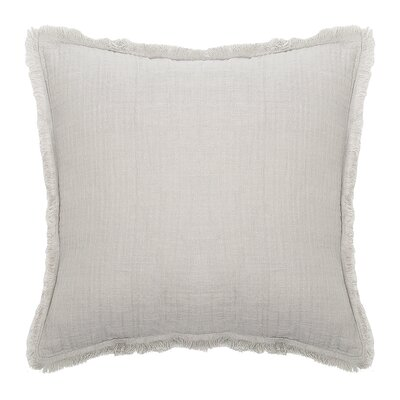 Feather Gauze Cotton Throw Pillow Color: Pearl Gray