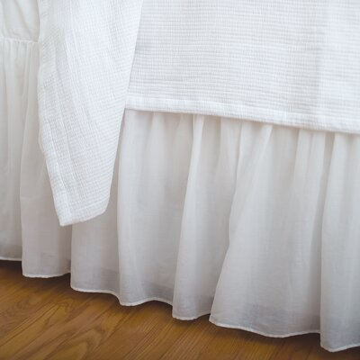 Vanya Voile Bed Skirt Size: Queen