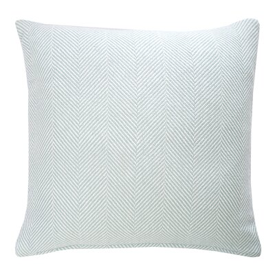 Tabor Cotton Throw Pillow Color: Sea Glass