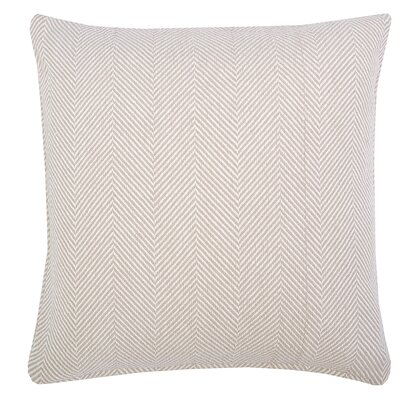 Tabor Cotton Throw Pillow Color: Sandstone