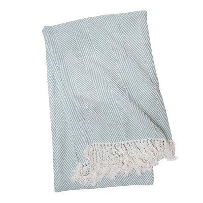 Tabor Cotton Throw Color: Sea Glass