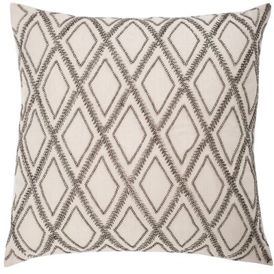 Graphite Diamond Cotton Throw Pillow