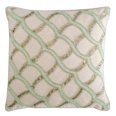 Sea Glass Ripple Cotton Throw Pillow