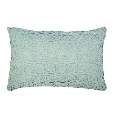 Ribbon Mesh Lumbar Pillow Color: Sea Glass