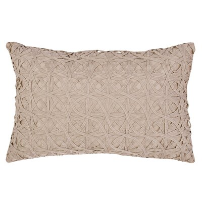 Ribbon Mesh Lumbar Pillow Color: Sandstone