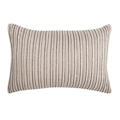 Graphite Stripe Cotton Lumbar Pillow
