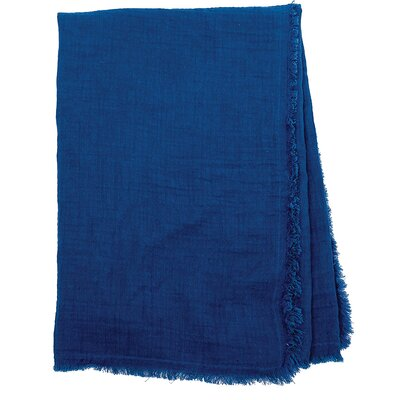 Feather Gauze Cotton Throw Color: Ink