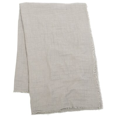 Feather Gauze Cotton Throw Color: Pearl Grey