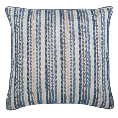 Ink Stripes Cotton Throw Pillow