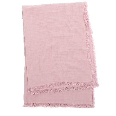Feather Gauze Cotton Throw Color: Rosewood