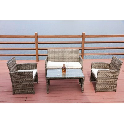 St. George 4 Piece Sofa Seating Group with Cushion