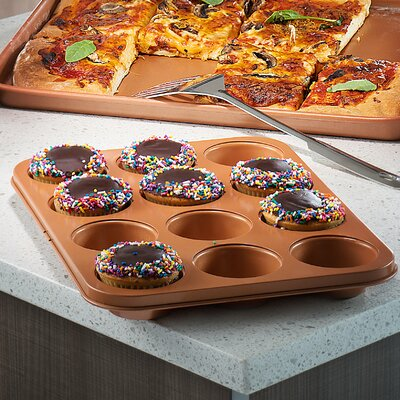 12 Cup Non-Stick Steel Muffin Pan
