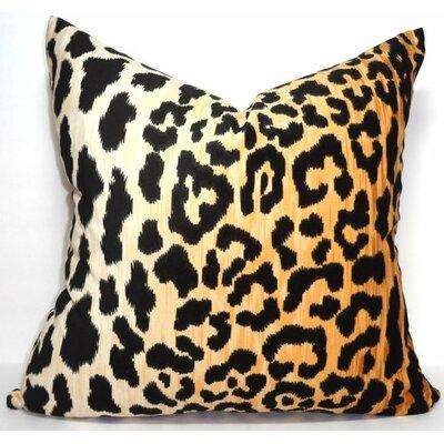 Leopard Print Velvet Pillow Cover Size: 18 x 18