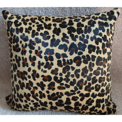 Leopard Print Cowhide Throw Pillow