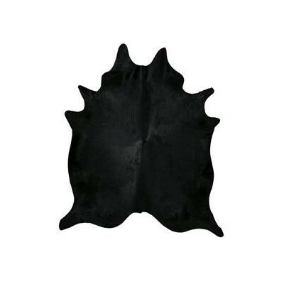 Dyed Brazilian Cowhide Black Area Rug