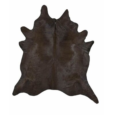 Dyed Brazilian Cowhide Chocolate Area Rug