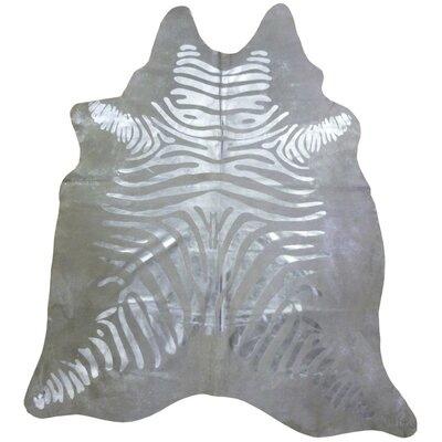 Print Brazilian Cowhide Silver Zebra Area Rug