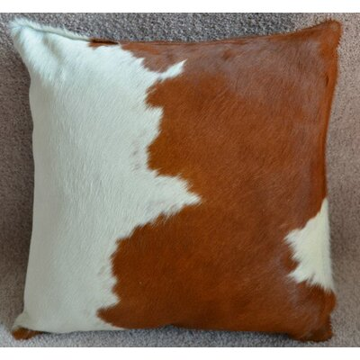 Cowhide Throw Pillow Color: Brown/White