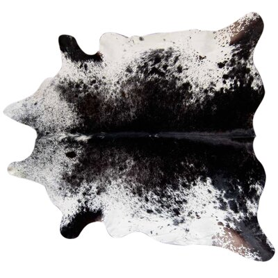 Speckled Cowhide Black Area Rug Rug Size: 56 x 66