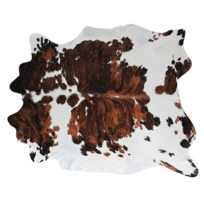 Cowhide Hand-Woven Brown/Black Area Rug Rug Size: 56 x 66