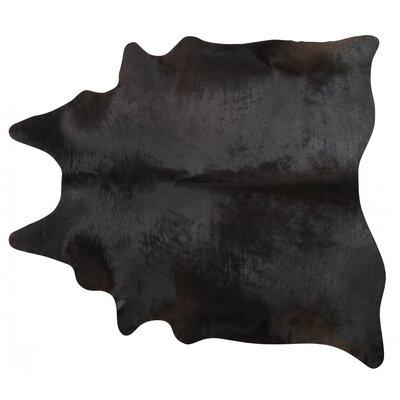 Handmade Black Area Rug Rug Size: 7 x 76