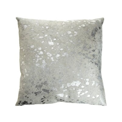 Silver Metallic Cowhide Throw Pillow Color: Silver Metallic