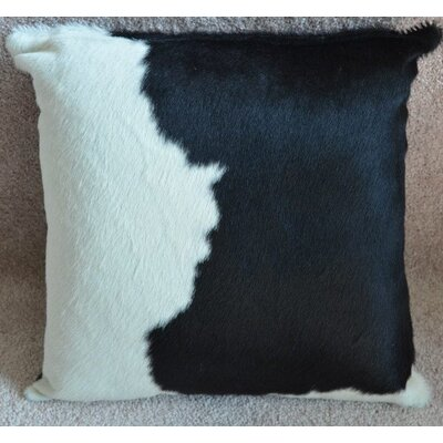 Cowhide Throw Pillow Color: Black/White