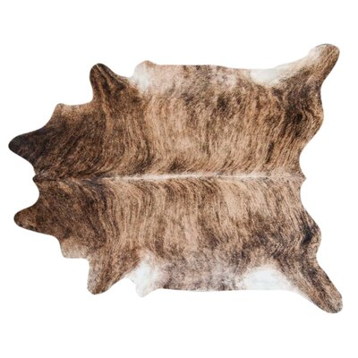 Brindle Hand Woven Cowhide Black/Brown Area Rug Rug Size: 6 x 5