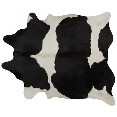 Handmade Black/White Area Rug Rug Size: 56 x 66