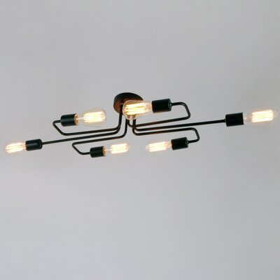 Kinnerly 6-Light Semi Flush Mount