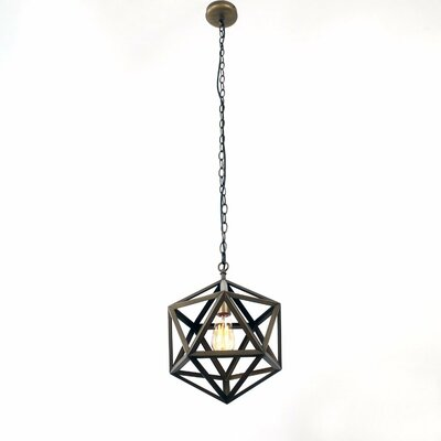 Metal Cage 1-Light Mini Pendant Finish: Antique Bronze