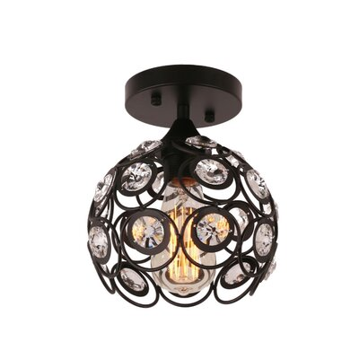 Bryanna 1-Light Semi Flush Mount