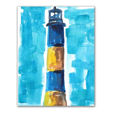 'Fire Island Lighthouse' Watercolor Painting Print LNTS2133 39534592
