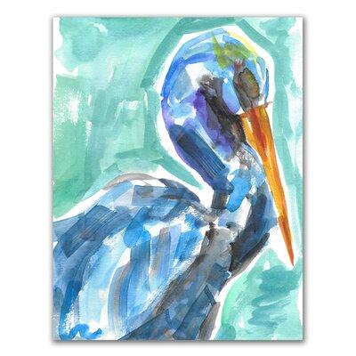 'Tropical Pelican' Watercolor Painting Print BBZE2103 39534127